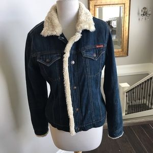 Women's Roxy lined jean jacket large